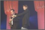 Gunther Neefs met de saxofonist